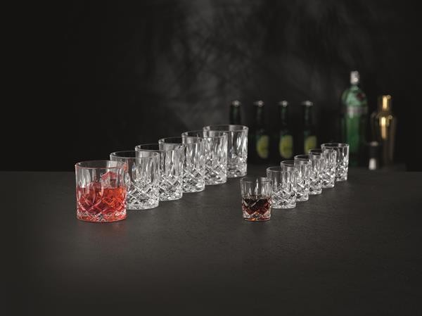 Nachtmann Noblesse Party Set , 6 Single Old Fashioned Tumbler + 6 Stampler Glas