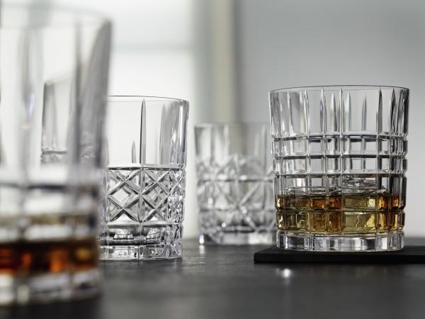 4 Whiskygläser Nachtmann Highland, 4 Schliffdekore, 4-er Set