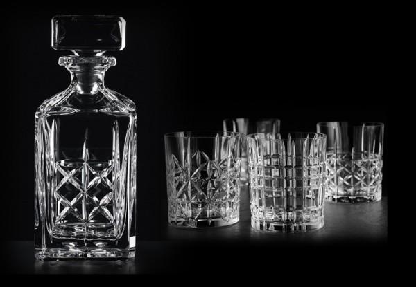 Whiskyset Highland Nachtmann 5-teilig,Whiskykaraffe und 4 Whiskygläser